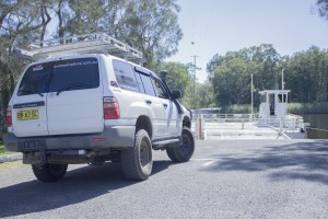 4x4 Destinations mobile sitting at Boombah Ferry